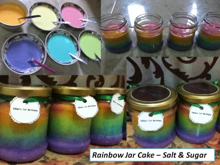 Resep Cake In Jar Rainbow: NCC Rainbow Week : Rainbow Jar Cake By Dian Permatasari