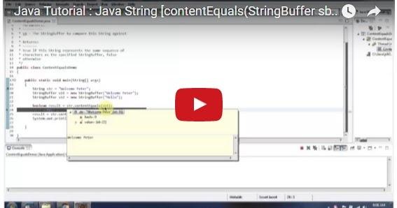 Java ee java tutorial java string contentequals for Pool design pattern java