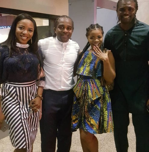 Kanu Nwakwo's brother Ogbonna gets engaged to girlfriend