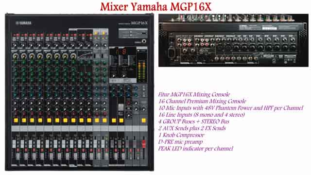 Harga Mixer Yamaha MGP16X Spesifikasi 16 Channel Input