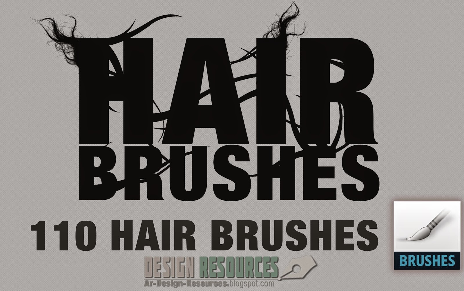 110 Hair Brushes — Photoshop Add-ons