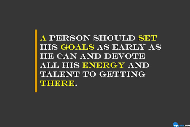 A person should set his goals as early as he can Walt Disney inspiring quote
