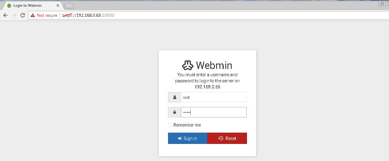 Webadmin Shell