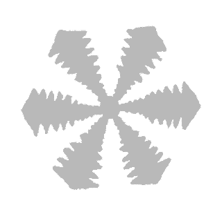 snowflake grayscale winter printable download