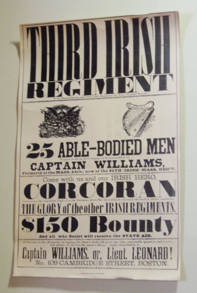 Third Irish regiment poster black and white