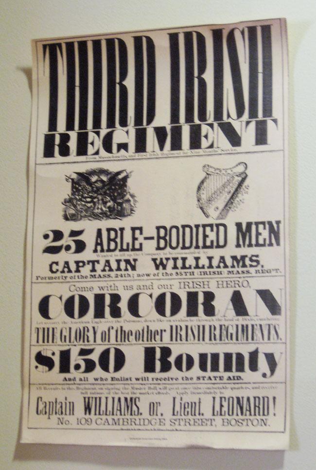 Third Irish regiment poster black and white