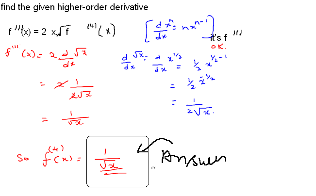 how to find equation given derivative