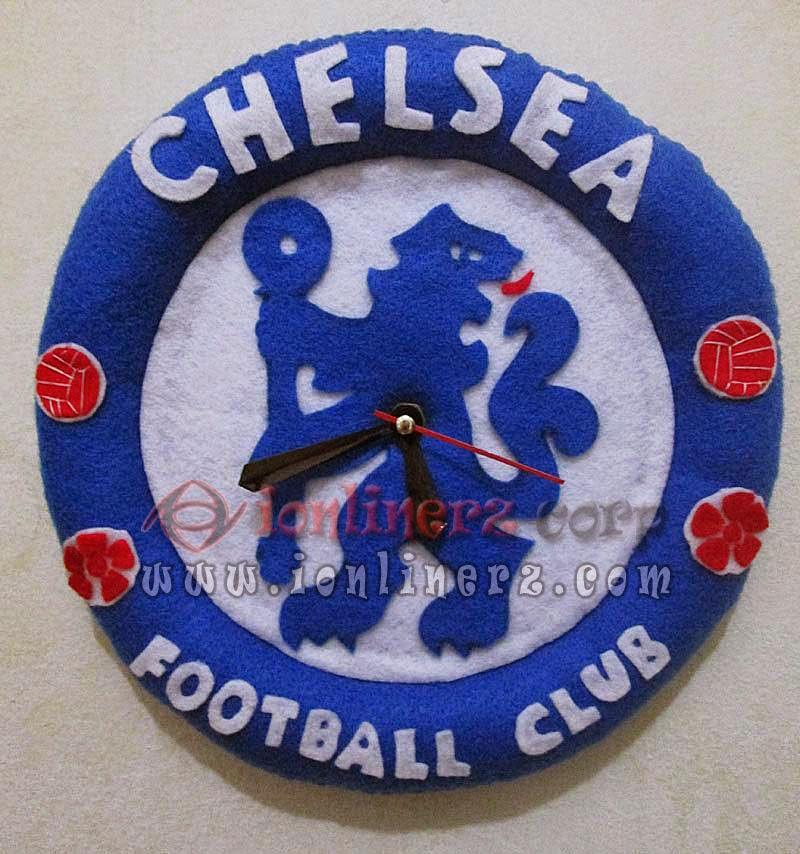 Jam Dinding Flanel Club Sepak Bola Chelsea