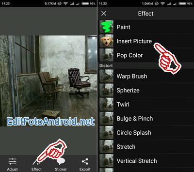 Edit Foto Terbang di PicSay Pro 1