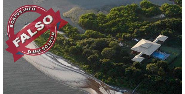 Ilha da família Lula de R$ 4 milhões é descoberta pelo MP - Falso