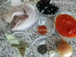 Limba cu masline ingredientele necesare prepararii retetei