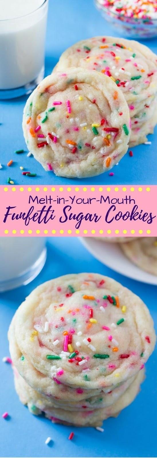 Funfetti Cookies from Scratch #funfetti #cookies #cookierecipes #scratch
