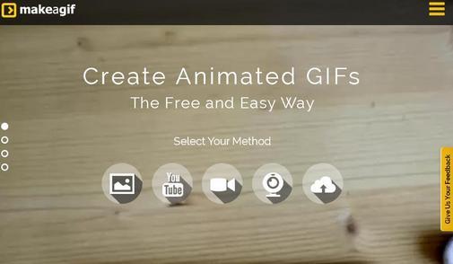 Kamu sanggup secara gampang menghasilkan animasi 6 Website Untuk Membuat File Gambar Animasi GIF Secara Online
