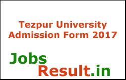 Tezpur University Admission Form 2017