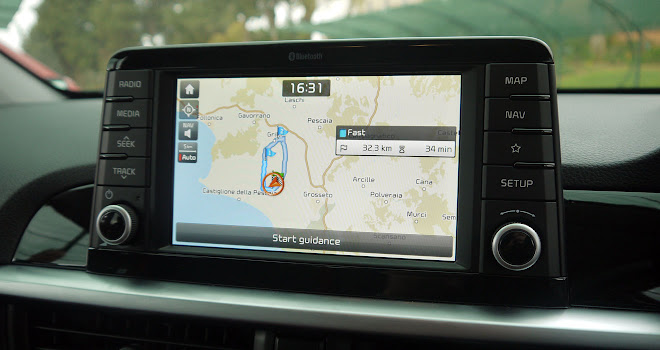 Kia Picanto touchscreen