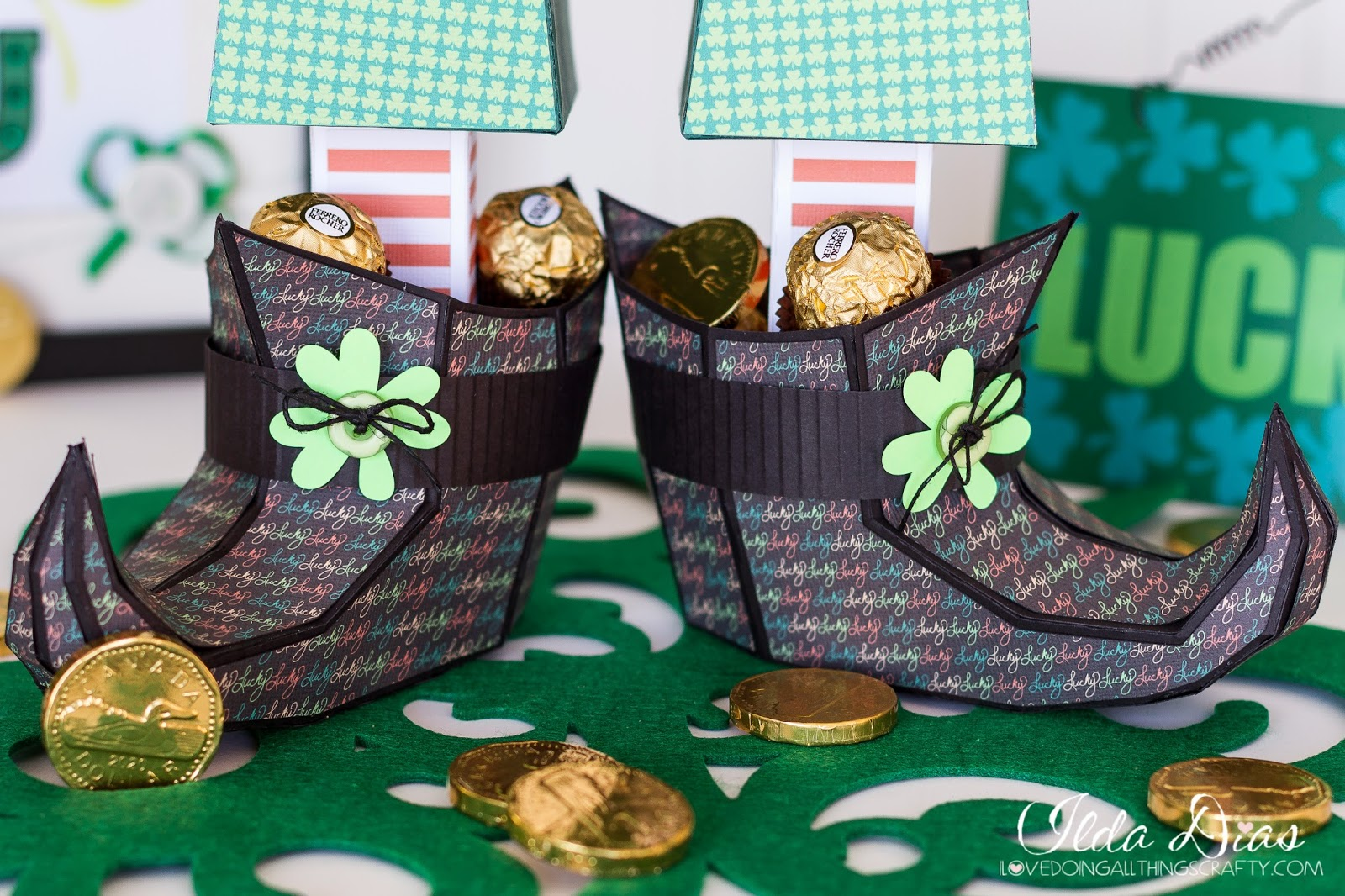 Lucky Leprechaun 3D Paper Pants and Green Bear Gift Boxes | SVGCuts Files