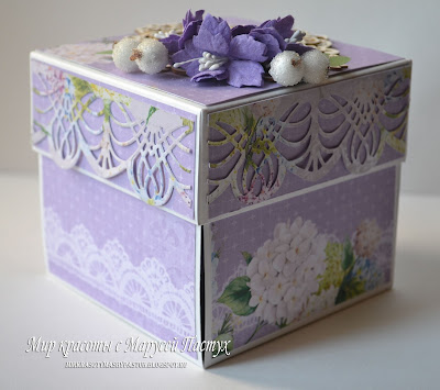 коробочка, коробочка-тортик, скрапбукинг
