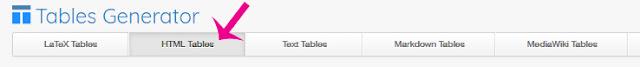 عمل جدول Html Tables
