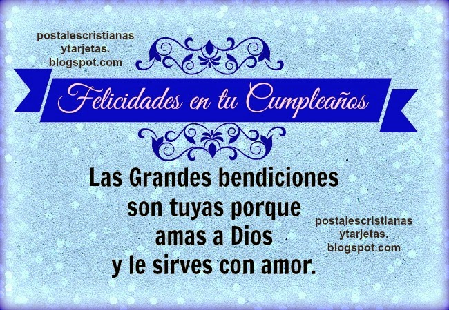 Felicidades Cumpleanos Cristiano Las Grandes Bendiciones Son