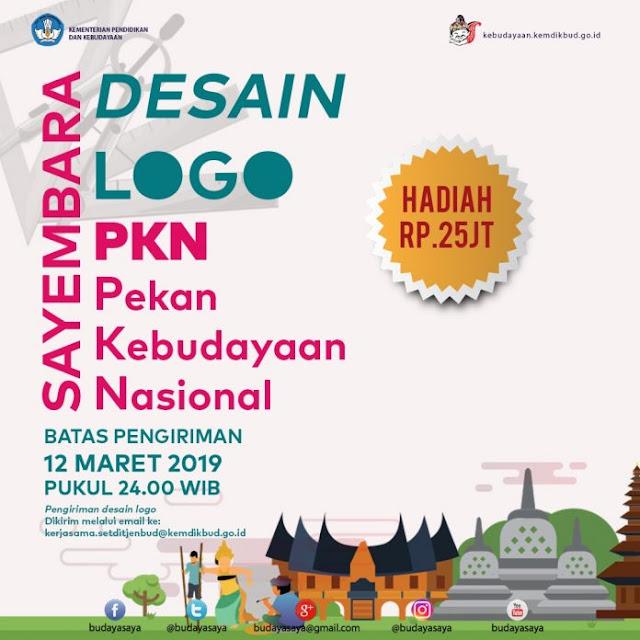 Kemdikbud: Sayembara Logo Pekan Kebudayaan Nasional (PKN) 2019, tomatalikuang.com