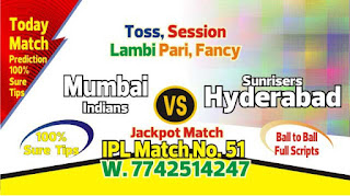 IPL 2019 51st Match Prediction Tips by Experts MI vs SRH