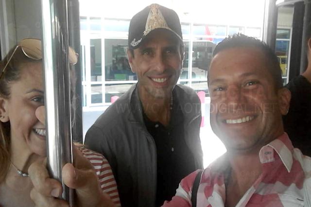 Regresó Capriles, luego de pasar varias semanas en los Estados Unidos