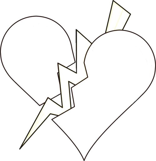 Broken Hearts Coloring Pages >> Disney Coloring Pages