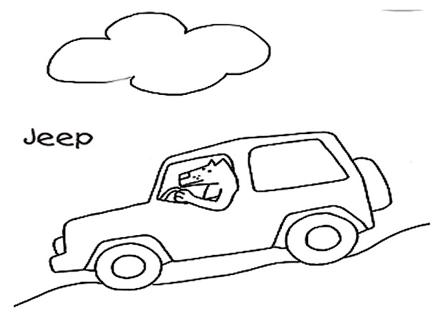 Safari Jeep Coloring Pages