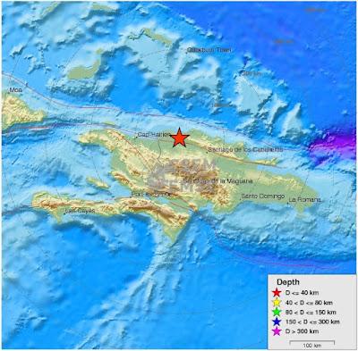Tres temblores de tierra se registraron en la provincia costera de Montecristi la madrugada del domingo