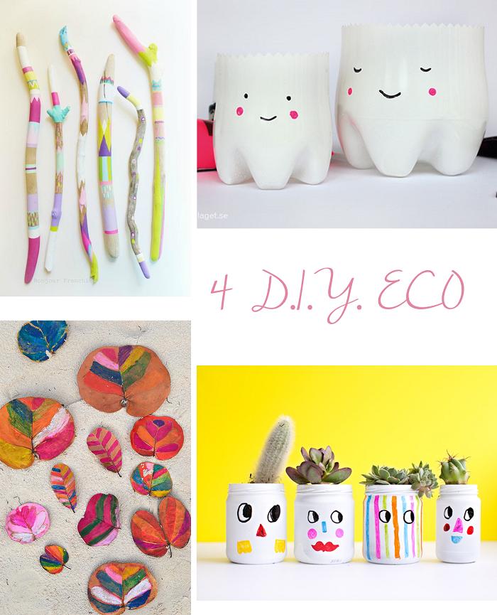 4 D.I.Y. Eco para hacer con niños