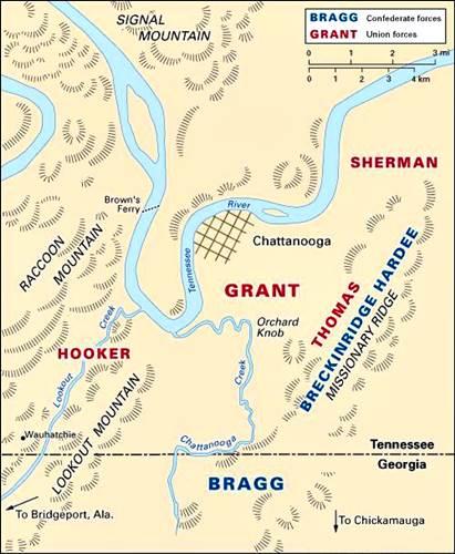 Batalla de Chattanooga, durante el otoño de 1863,