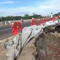 Tol Cipali Km 79 Arah Jakarta Menuju Palimanan Amblas