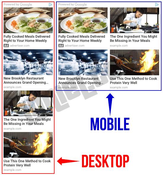 Ubah Layout Grid Kotak Iklan Matched Content Responsif