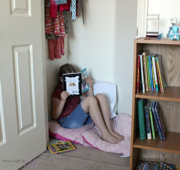 create a cozy reading nook for kids
