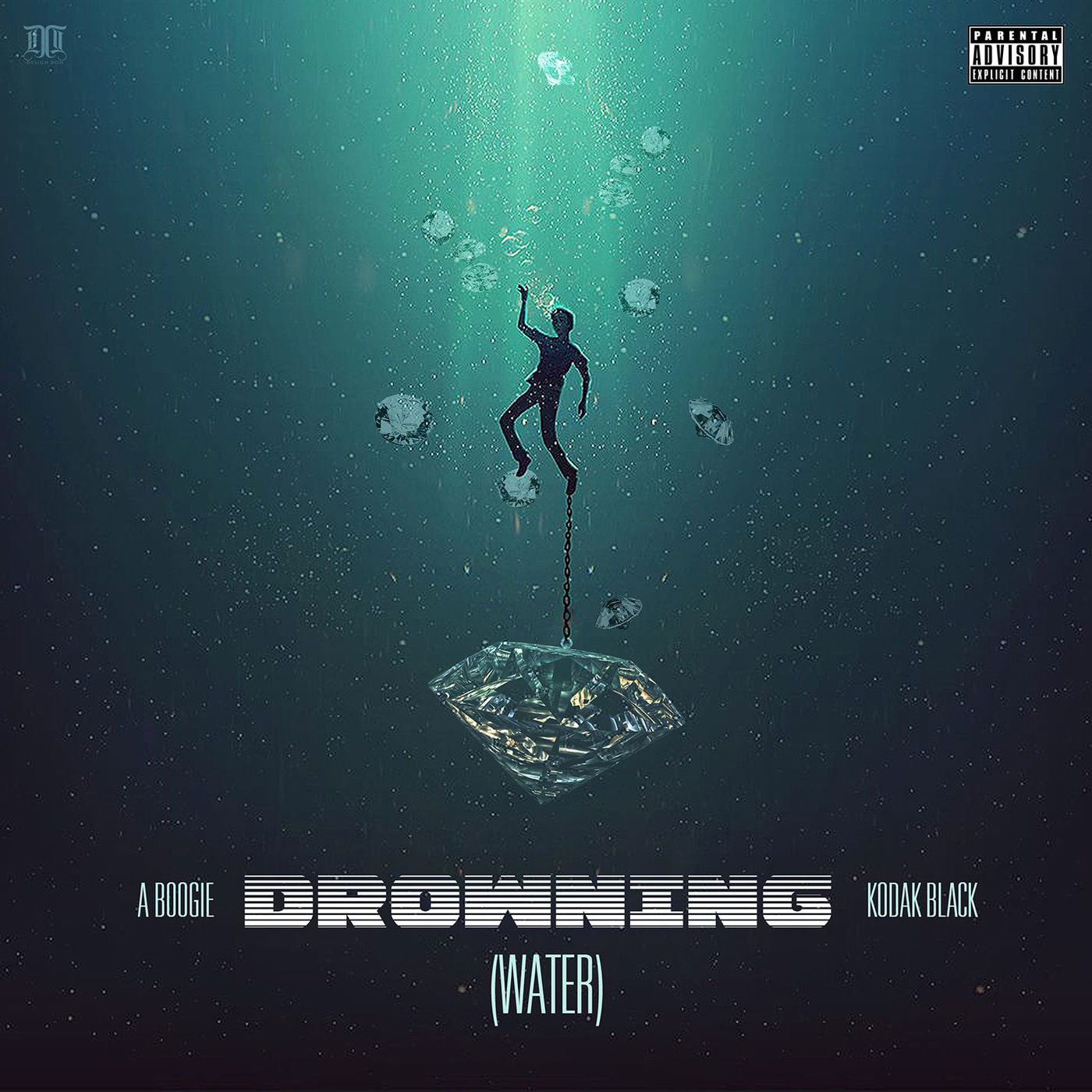 A Boogie Wit da Hoodie - Drowning (feat. Kodak Black) - Single Cover