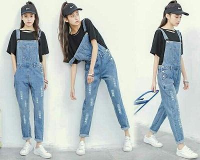 baju kodok jeans dewasa