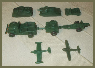 1 RTM - Lido Copies Hong Kong AFV's Tank Jeep Plane 2 Aeroplanes; Aircraft; Artillery Cannon; Artillery Gun; Artillery Piece; Dime Store Toy; Hong Kong Plastic Toy; Jeep Toy; Knock Offs; Lido Plastic Toys; Lido Plastic Vehicles; Lido Troop Transport; Made in Hong Kong; Piracies; Plastic Aircraft; Rack Toy; Rack Toy Month; Small Scale World; smallscaleworld.blogspot.com; Tank Toy;