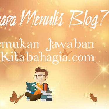 5 Alasan Menulis Blog versi CitraPandiangan