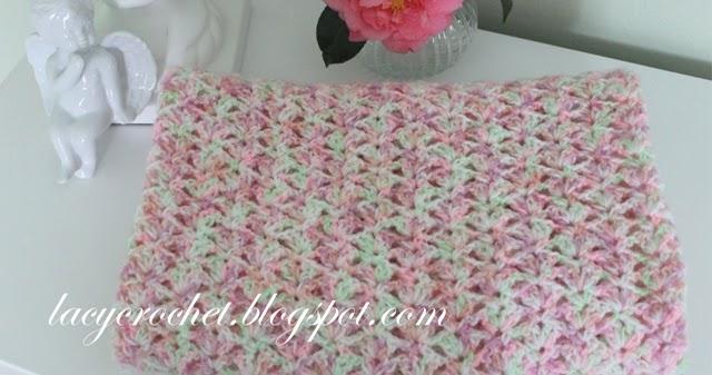 Lacy Crochet Tiny Tulips Baby Blanket Free Crochet Pattern