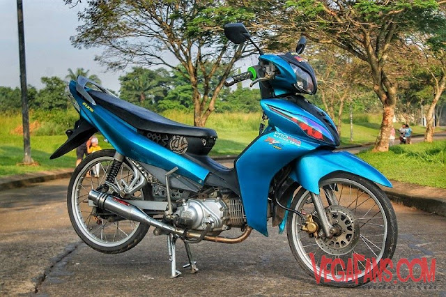 Modifikasi Jupiter Z New Biru Modif Simple