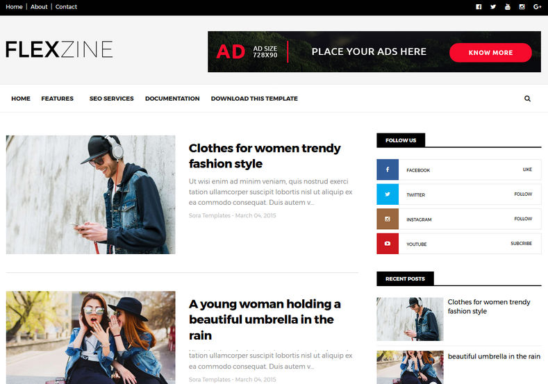 FlexZine Blogger Template High Quality Free Blogger Templates - fashion blogger templates