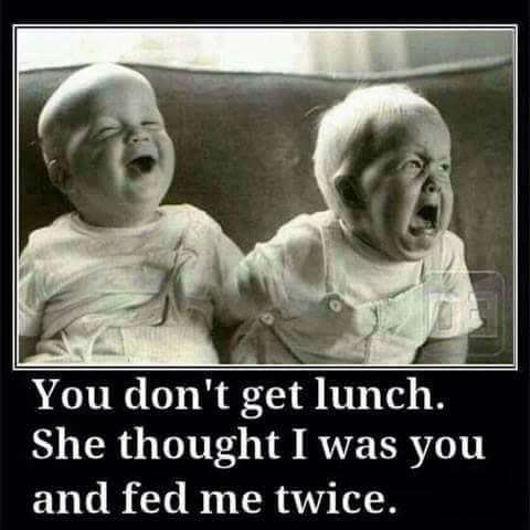 Photo of the day: when your twin brother takes your lunch