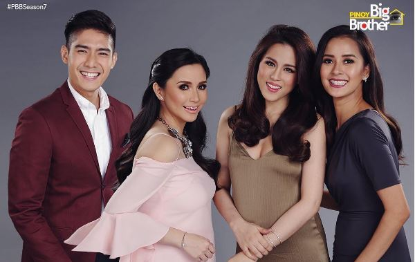 PBB Season 7 hosts Robi Domingo, Mariel Rodrigues, Toni Gonzaga and Mariel Rodriguez