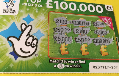 £1 £100,000 Green Scratch Card