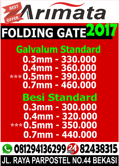 gambar harga folding gate cibitung