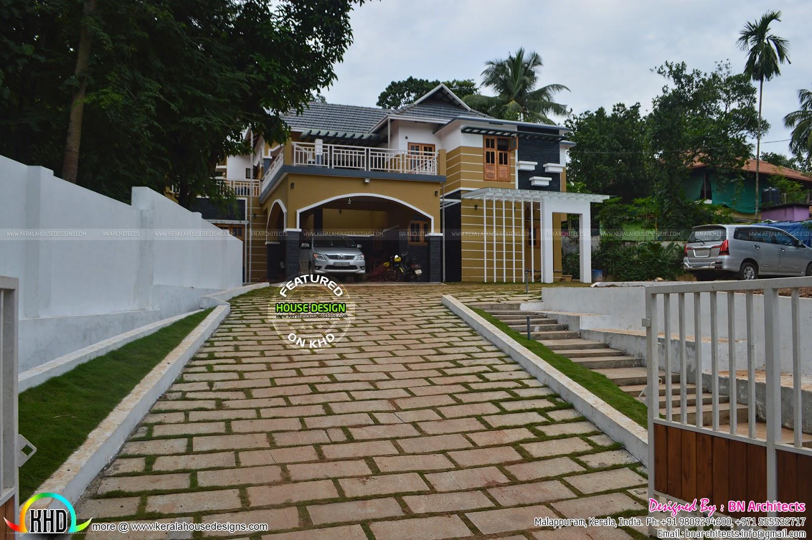 Completed House At Nilambur Kerala Kerala Home Design
