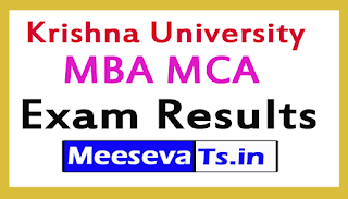 Krishna University MBA MCA Exam Results