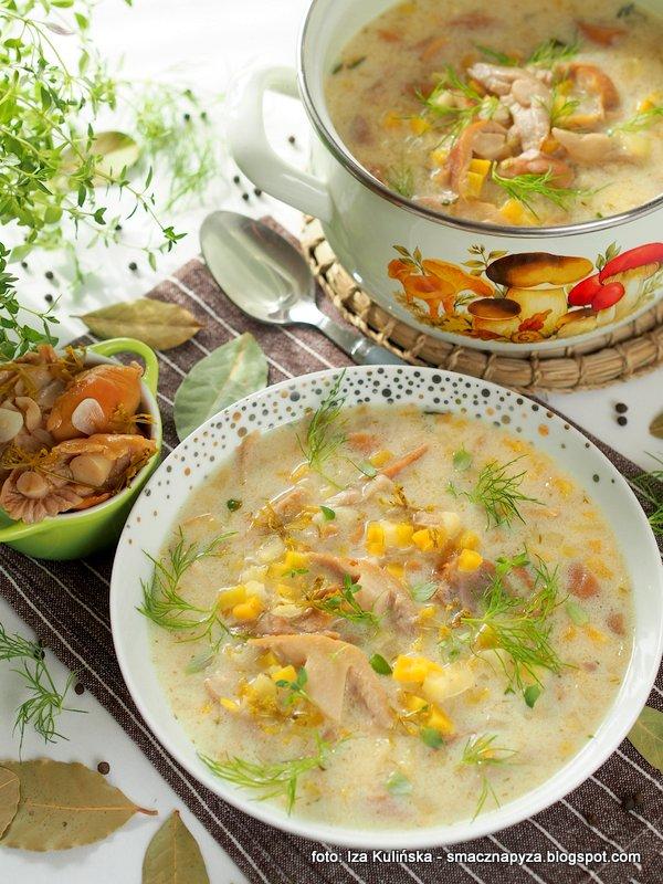 domowa zupa, zupa grzybowa, kiszone grzyby, kartoflanka, zupa dnia, kiszone kolpaki, turki, niemki