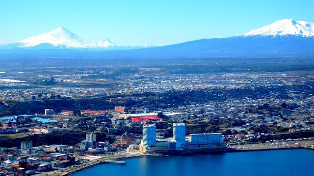 Vista aérea de Puerto Montt, Chile