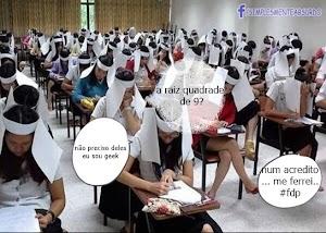 E se a moda pega? Estudantes usam burca provisória em escola na Tailândia
